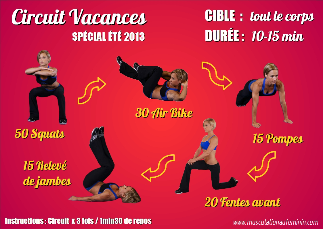 Programme musculation vacances rapide