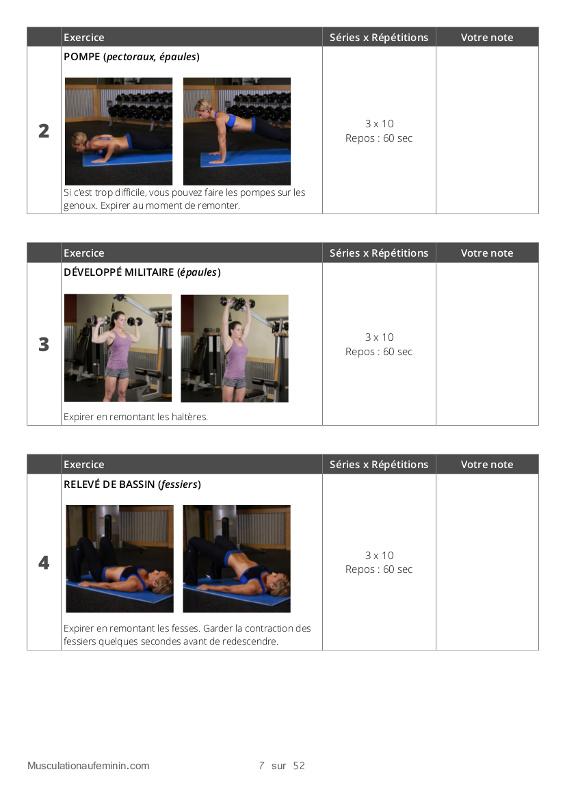 Connu Programme] 28 jours pour bien débuter la musculation à la maison  NB28