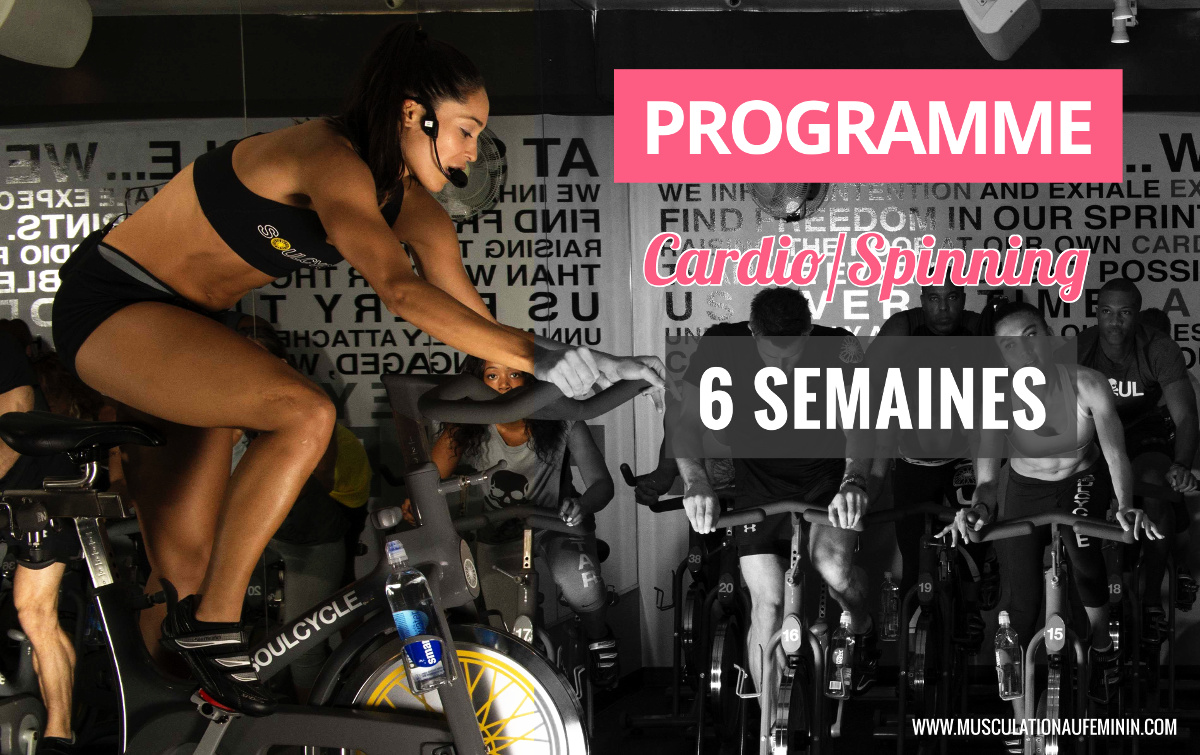 programme de cardio spinning 6 semaines musculation au f minin. Black Bedroom Furniture Sets. Home Design Ideas