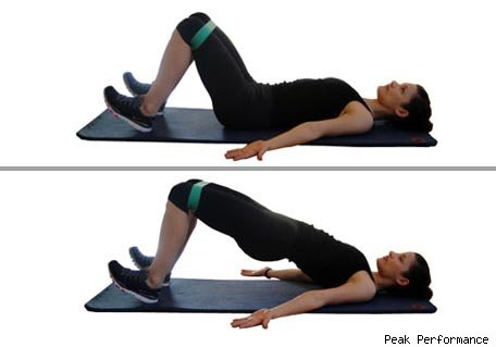 supine-glute-bridge élastique fessiers