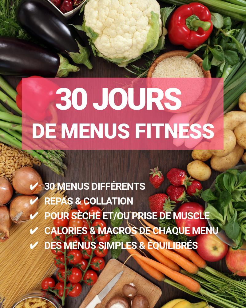 fitfood 30 jours de menus fitness musculation au f minin. Black Bedroom Furniture Sets. Home Design Ideas