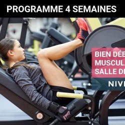 Programme de musculation pour femme en salle de sport – Débutante Niveau 1