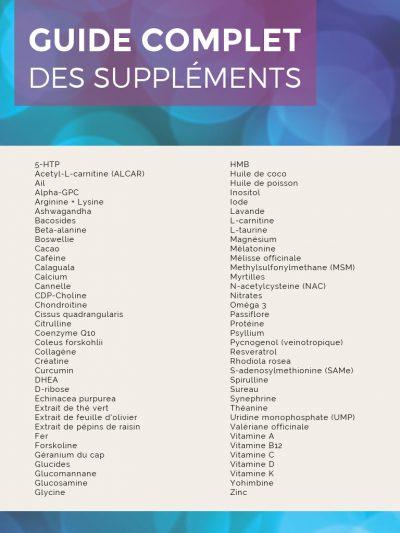 meilleurs suppléments musculation