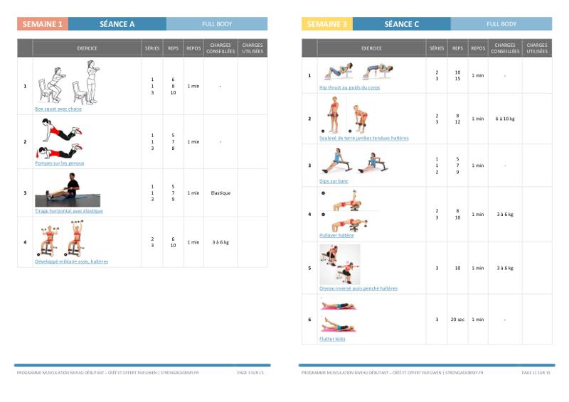 Programme De Musculation Pour Femme A La Maison Niveau Debutante Strong Academy Musculation Au Feminin