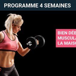 Programme de musculation pour femme à la maison – Niveau débutante