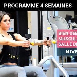Programme de musculation pour femme en salle de sport – Débutante Niveau 2