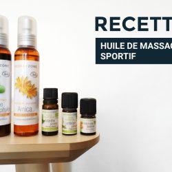 Ma recette d'huile de massage sportif