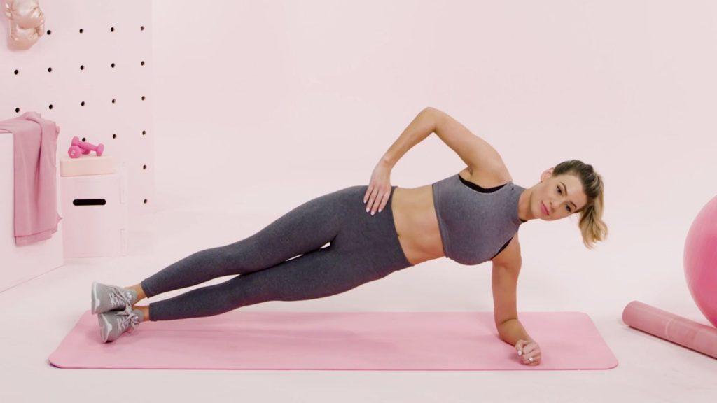 Planche latérale femme enceinte
