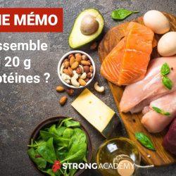 FICHE MÉMO | Ça ressemble à quoi 20 g de protéines ?
